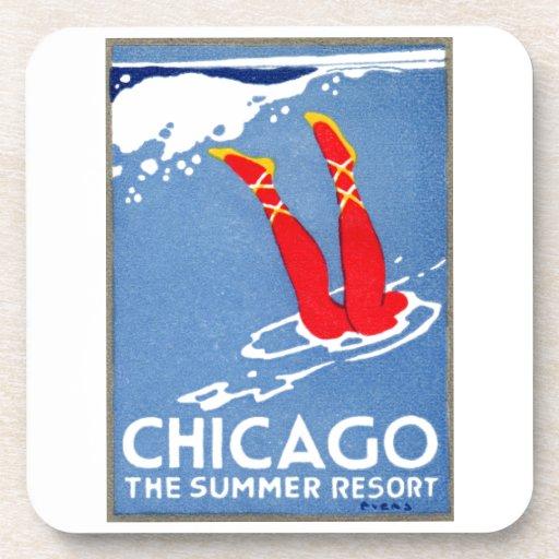 1912 Chicago, el centro turístico de verano Posavasos