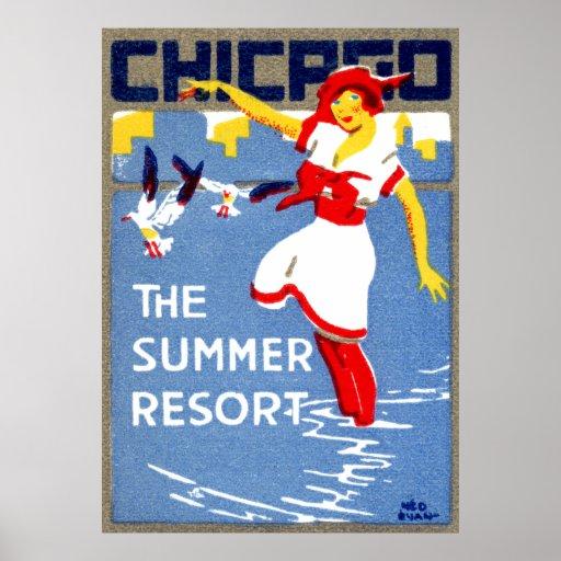 1912 Chicago, el centro turístico de verano Poster