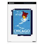 1912 Chicago, el centro turístico de verano Pegatina Skin Para iPad 3