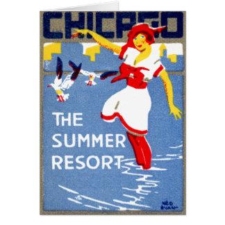 1912 Chicago, el centro turístico de verano Tarjeta