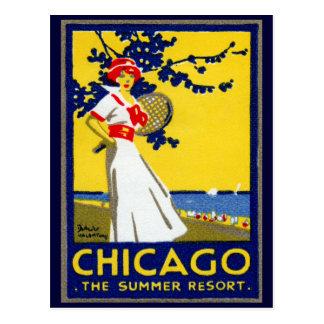 1912 Chicago, el centro turístico de verano Postal