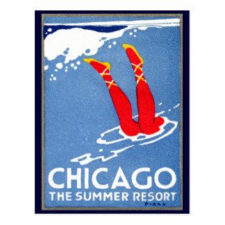 1912 Chicago, el centro turístico de verano Tarjeta Postal