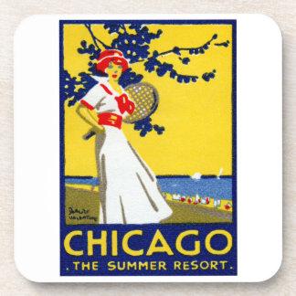 1912 Chicago, The Summer Resort Beverage Coasters