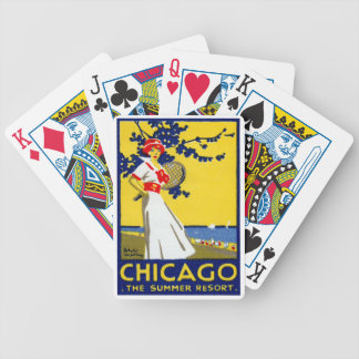 1912 Chicago, The Summer Resort Bicycle Poker Deck