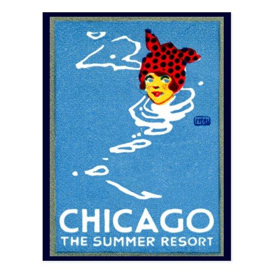 1912 Chicago, The Summer Resort Postcard
