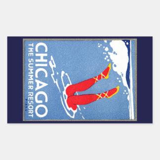 1912 Chicago, The Summer Resort Rectangular Sticker