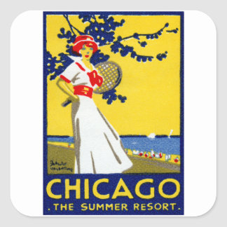 1912 Chicago, The Summer Resort Square Stickers