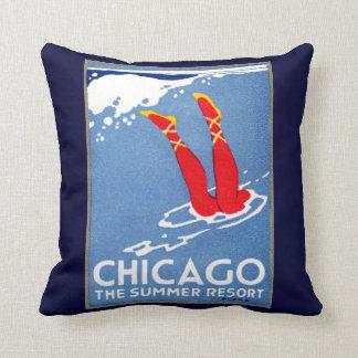 1912 Chicago, The Summer Resort Throw Pillow