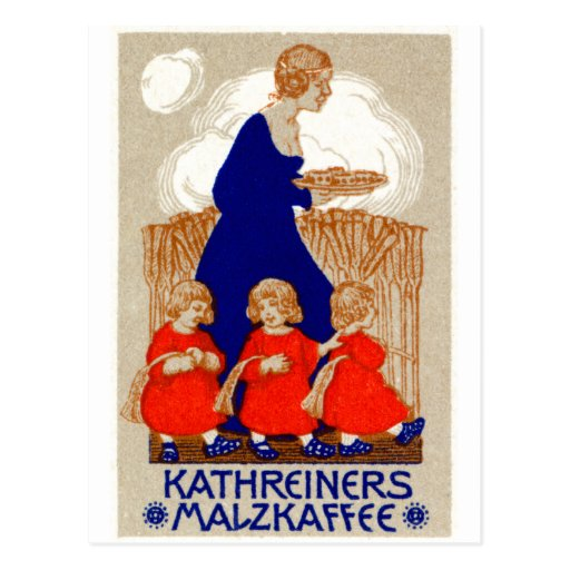 1912 Coffee Poster Postcard