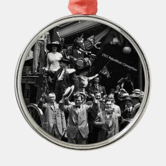 1912 convenio nacional republicano, Chicago, IL Adorno Navideño Redondo De Metal