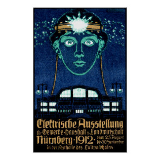 1912 Electricity Expo Poster