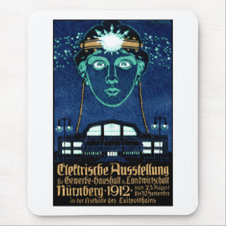 1912 Electricity Expo Poster Mouse Pad