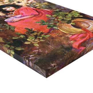 1912 FAIRYTALE BOOKART MISS MUFFETT WRAPPED CANVAS