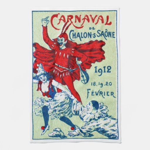 1912 French Carnaval Kitchen Towels
