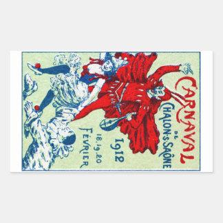 1912 French Carnaval Rectangular Sticker
