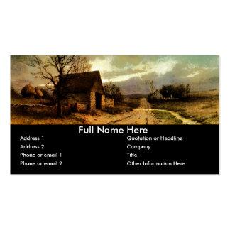 1912) graneros de noviembre Twilight (y señales de Tarjetas De Visita