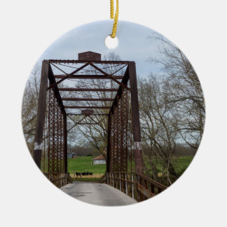 1912 Green Bridge Ceramic Ornament