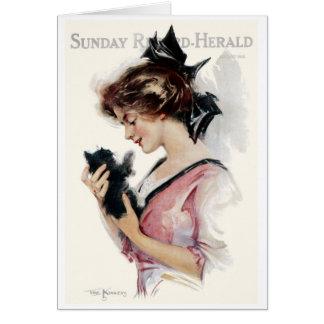 "1912 KITTEN  ""MAGAZINE MINIS"" COVERART GREETING CARD"