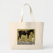 1912 Ludwig Hohlwein Horse Riding Poster Art Large Tote Bag