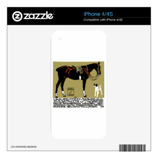 1912 Ludwig Hohlwein Horse Riding Poster Art Skin For The iPhone 4S