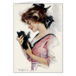 """1912! """"MEWS-IC"""" TO MY EARS""""  KITTEN GREETING GREETING CARDS"""
