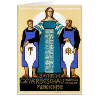 1912 Munich Germany Poster Card