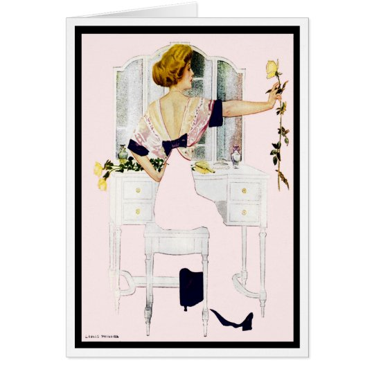 """1912!! """"ROMANCE & ROSES"""" FADE-AWAY COLES PHILLIPS CARD"""