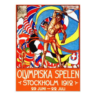 1912 Summer Olympics (vintage sports poster) ~ Card