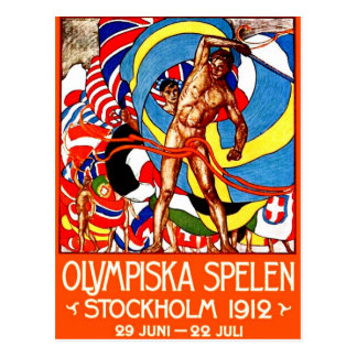 1912 Summer Olympics (vintage sports poster) ~ Postcard