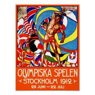 1912 Summer Olympics (vintage sports poster) ~ Poster