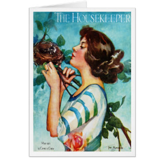 """1912!!! """"THE NEST"""" SPRING COVERART GREETING CARD"""
