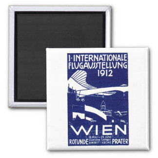 1912 Vienna Air Show Poster 2 Inch Square Magnet
