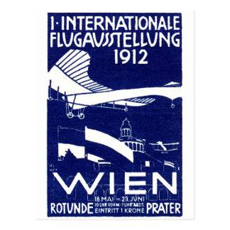 1912 Vienna Air Show Poster Postcard