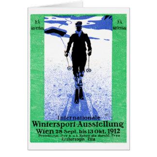 1912 Vienna Winter Sports Poster Card