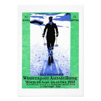 1912 Vienna Winter Sports Poster Custom Invite