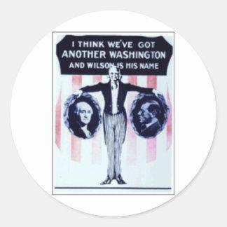 1912 Wilson Round Stickers