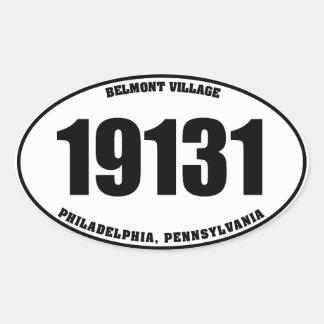 19131 Belmont Village Phila PA oval stickers