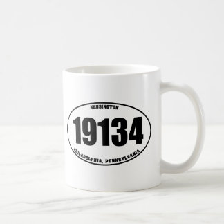 19134 - Kensington Philadelphia, PA Taza Básica Blanca