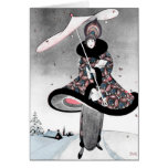 """1913! ART DECO """"YOUR MERRIEST COAT"""" HOLIDAY GREETING CARDS"""