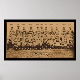 1913 Boston Red Sox Fatima Tobacco Card Poster