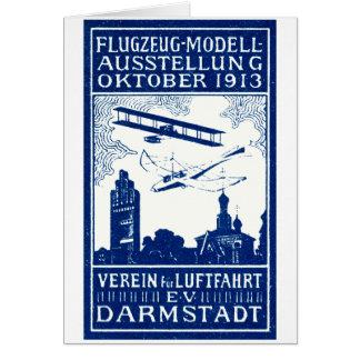 1913 Darmstadt Air Show Card