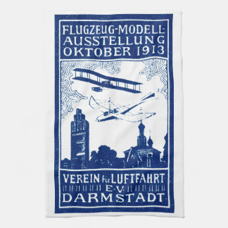 1913 Darmstadt Air Show Hand Towels