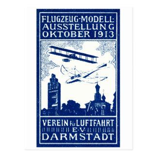 1913 Darmstadt Air Show Postcard