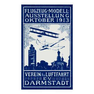 1913 Darmstadt Air Show Posters