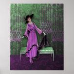 1913 de lujo: Moda del vintage en lila y menta Impresiones