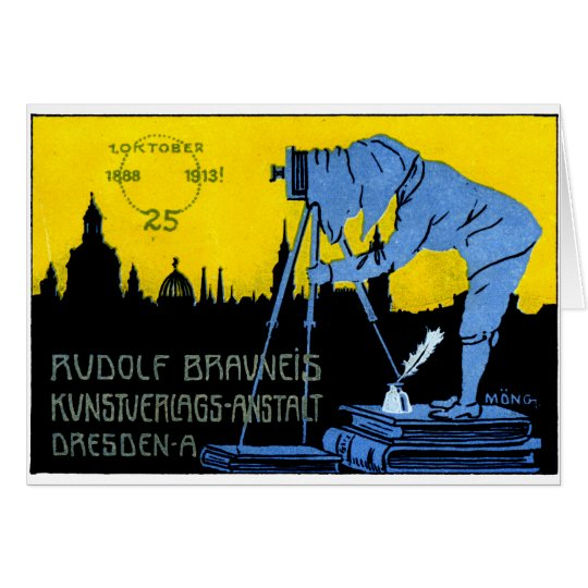 1913 Dresden Photography Poster Card