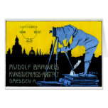 1913 Dresden Photography Poster Greeting Card