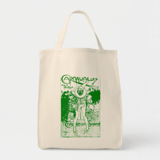 1913 French Carnival Poster, green Grocery Tote Bag