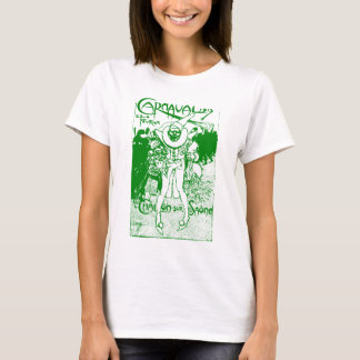 1913 French Carnival Poster, green T-Shirt