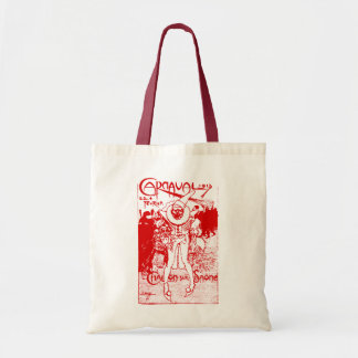1913 French Carnival Poster, red Budget Tote Bag